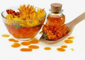Calendula for pink eyes