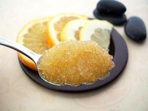 Honey sugar scrub