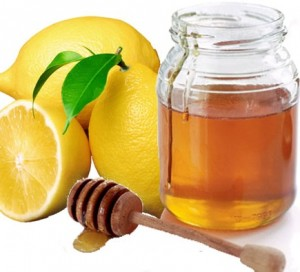 Lemon and honey for glowing skin