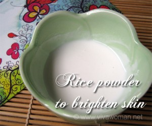 Rice powder for brighter skin