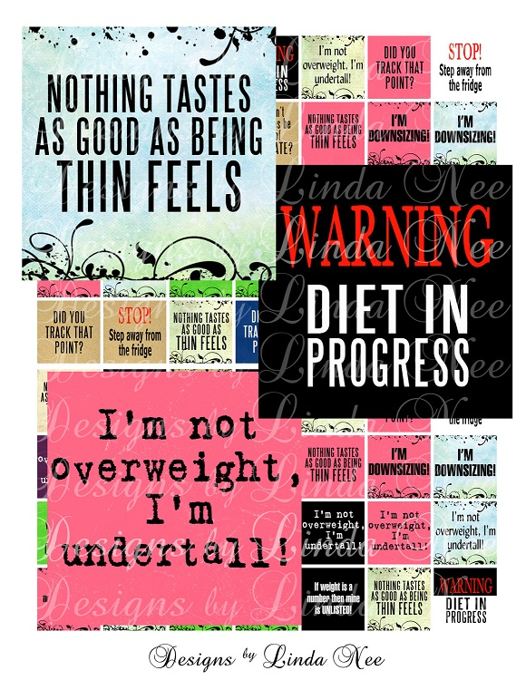 Weight loss collage