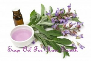 Sage oil for hair