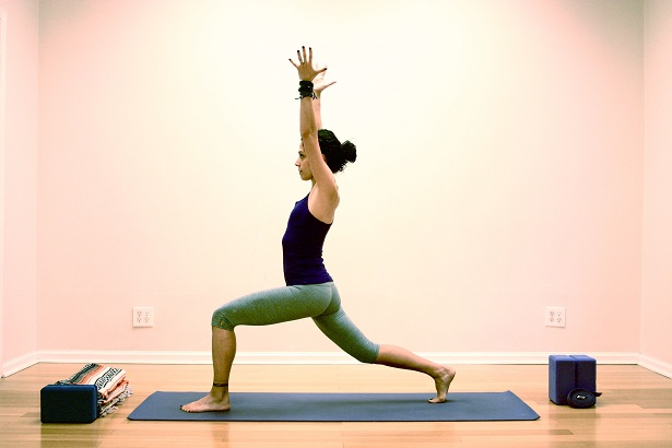 Virabhadrasana I - High Lunge - Variation