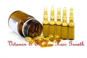 Vitamin E oil for hair growth